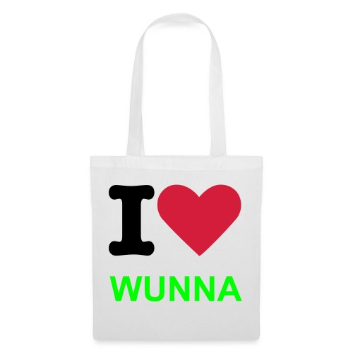 Tote Bag - By Chrissie Wunna  'I LOVE WUNNA' line (Throw all your life in one big tote)