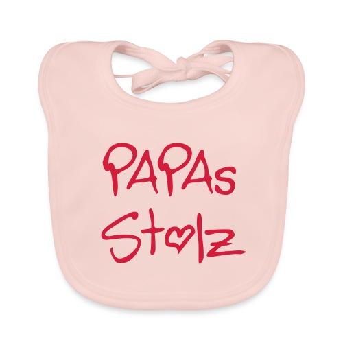 Baby Bio-Lätzchen - rosa - Papas Stolz - Baby Bio-Lätzchen