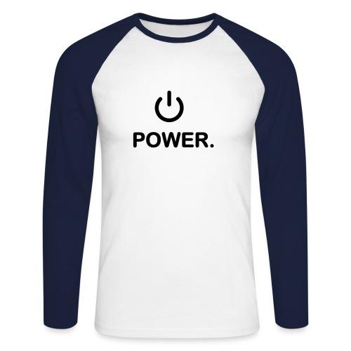 power - Mannen baseballshirt lange mouw