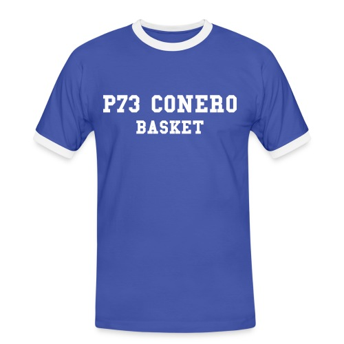 P73 Contrast Basket front with Number Blue/White - Maglietta Contrast da uomo