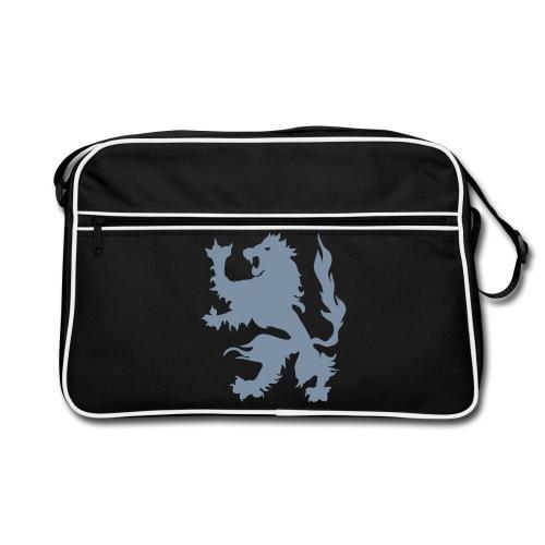 Lion - Silver print - Retro Bag