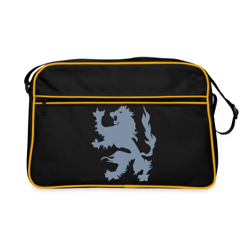 Lion - Silver print - Retro Bag