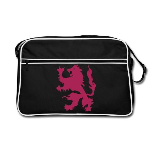 Lion - Pink print - Retro Bag