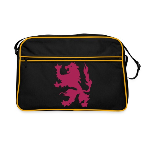 Lion - Pink print - Retro Bag