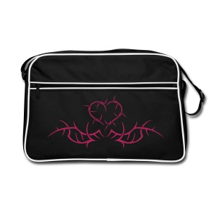 Barbwire heart - Pink print - Retro Bag