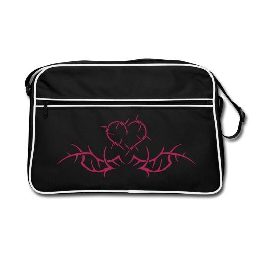 Barbwire heart - Pink print - Retro Bag