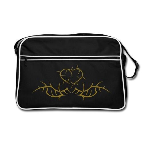 Barbwire heart - Gold print - Retro Bag