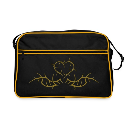 Barbwire heart - Gold print - Retro Bag