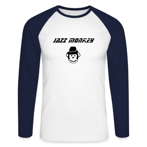 Men's Raglan Shirt - Jazz Monkey - Men's Long Sleeve Baseball T-Shirt