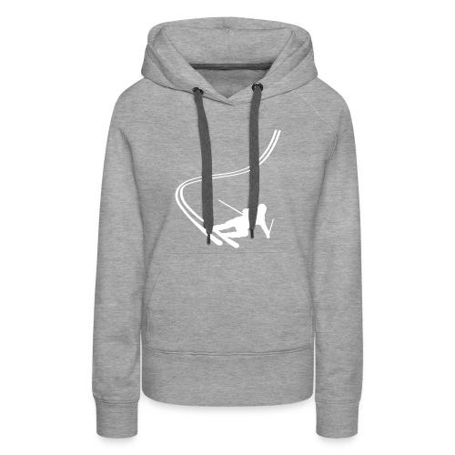 Dame sweatshirt med selvlysende print - Dame Premium hættetrøje