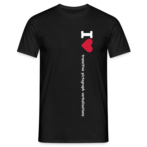 I (h) transitive pictograph verbalisations - Men's T-Shirt