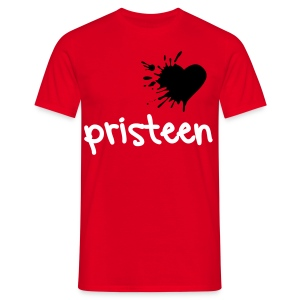 Pristeen - Black heart Pristeen Male - Men's T-Shirt