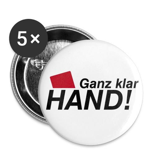 Anstecker Hand - Buttons groß 56 mm