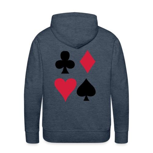 poker yago 8787 - Sudadera con capucha premium para hombre