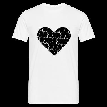 Bianco Puzzle - Heart - Love T-shirt