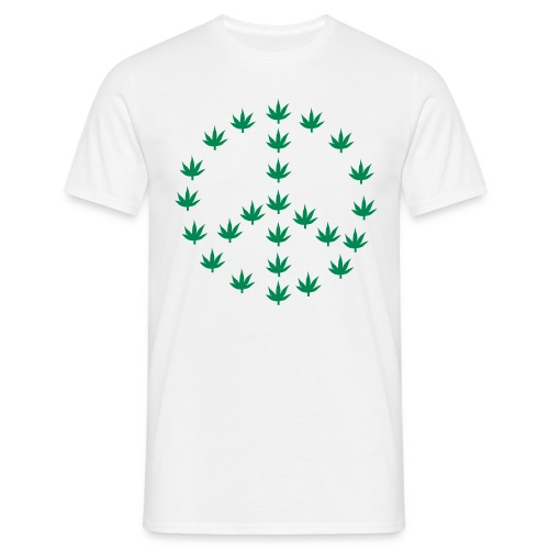 Cannabis - Peace symbol - Men's T-Shirt