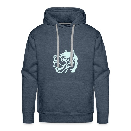 Herren Kupuzensweatshirt mit Pferd - Männer Premium Hoodie