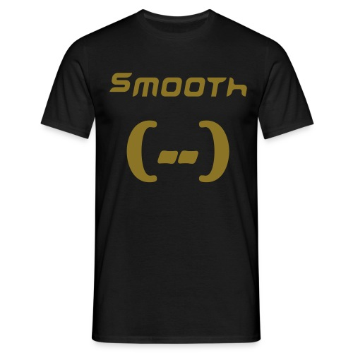 Smooth ZWART/GOUD - Mannen T-shirt