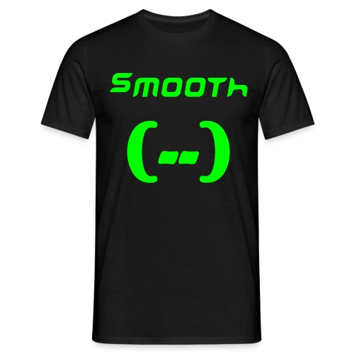 Smooth ZWART/NEONGROEN - Mannen T-shirt