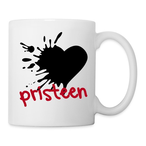 Pristeen - Black heart mug - Mug