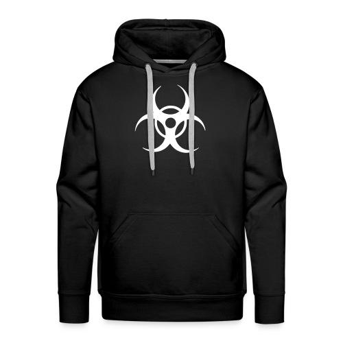 Biohazard, Hood (white) - Men's Premium Hoodie