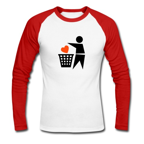Love - Koszulka męska bejsbolowa z długim rękawem