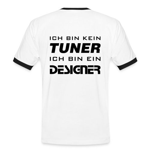 Designer - Shirt - Männer Kontrast-T-Shirt