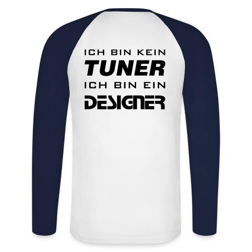Designer - Langarm - Männer Baseballshirt langarm