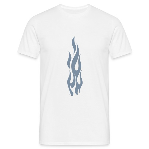 Flames (silver) - Men's T-Shirt