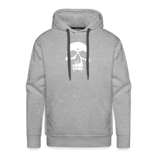Skull Vampire, Hood (white) - Men's Premium Hoodie