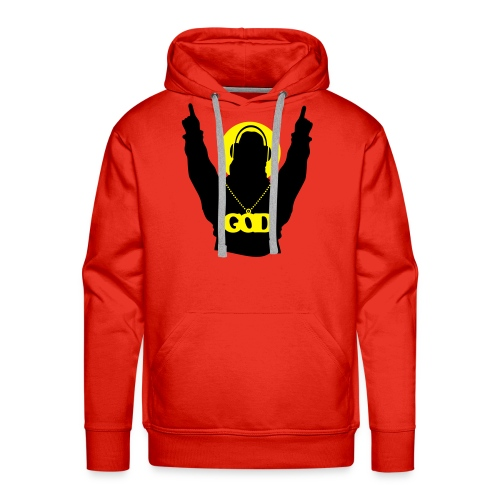 God is a DJ - Men's Premium Hoodie