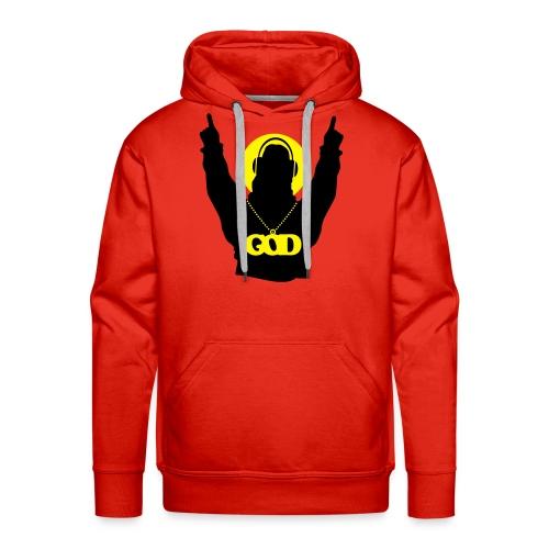 God is a DJ - Men's Premium Hoodie