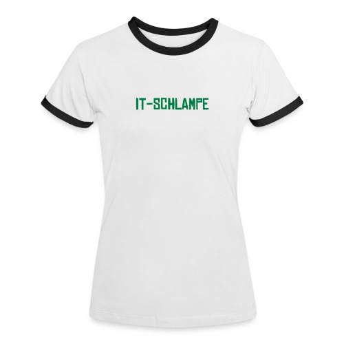 it-schlampe classic - Frauen Kontrast-T-Shirt
