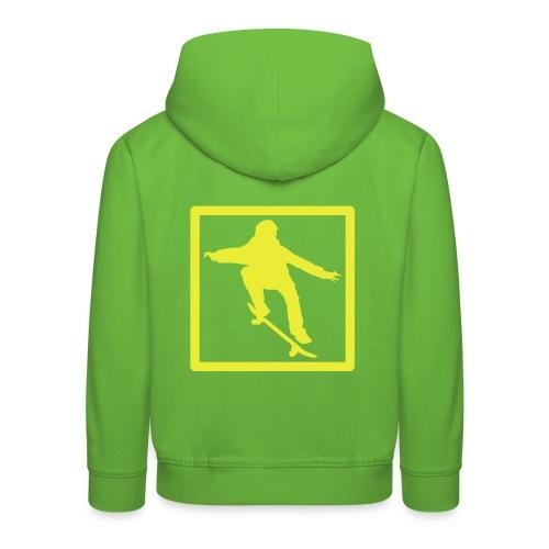 Skater inside backlogo KID hoodie - Kids' Premium Hoodie