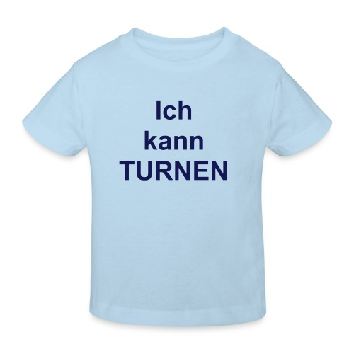 Kindershirt Ich kann turnen - Kinder Bio-T-Shirt