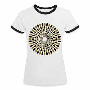 Flower Power - Frauen Kontrast-T-Shirt