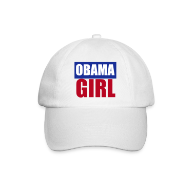 White/white Barack Obama Girl Caps & Hats