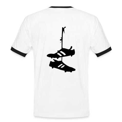 Statt Rückennummer  II - www.tabellenspitze.de - Männer Kontrast-T-Shirt