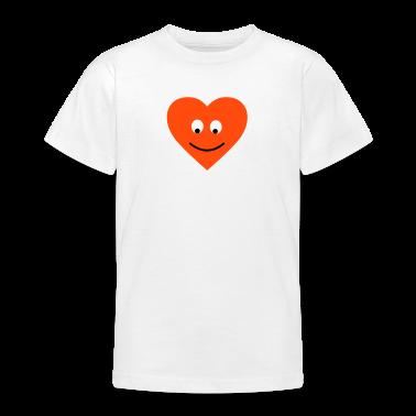 Weiß heart Herz Gesicht Shirts