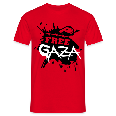 Red Free Gaza Men's Tees