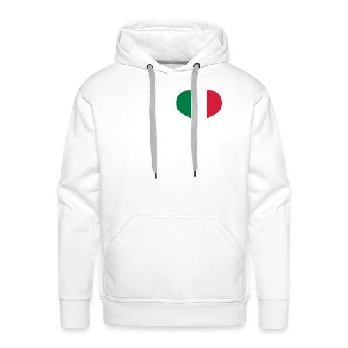 felpa cuore italiano - Felpa con cappuccio premium da uomo