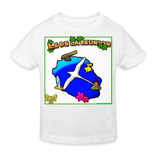 ILE DE LA REUNION PAILLE EN QUEUE - T-shirt bio Enfant