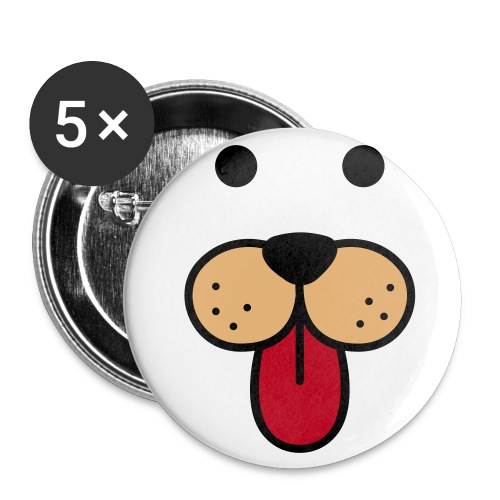 Dog Face Badge - Buttons small 1''/25 mm (5-pack)