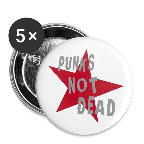 Punk Not Dead -rintamerkit - Rintamerkit keskikokoiset 32 mm (5kpl pakkauksessa)