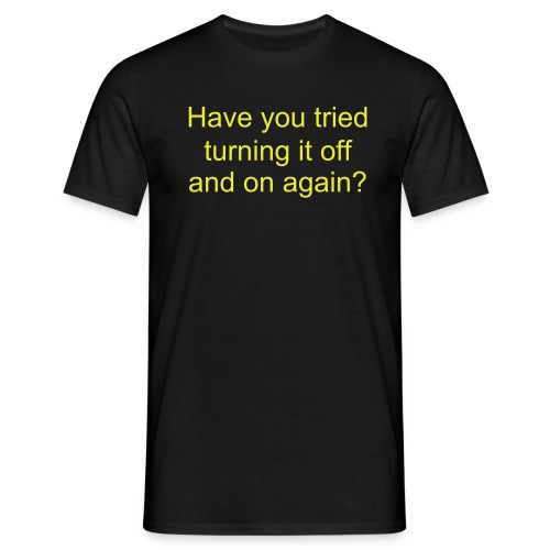 on and off again - Männer T-Shirt