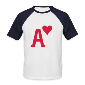 Ace of Hearts - Men's Baseball T-Shirt