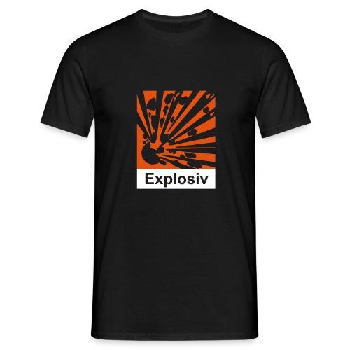 Explosiv (vorne) + Reizend (hinten) - Männer T-Shirt