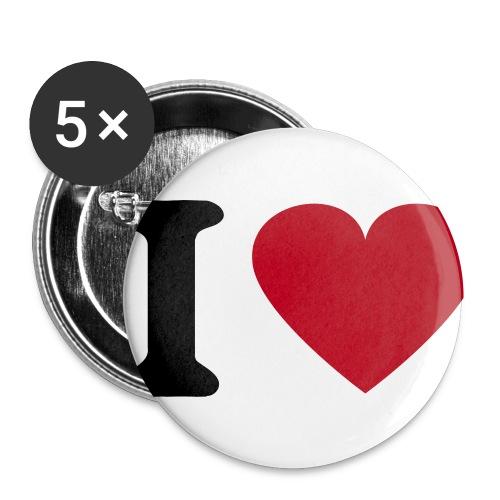 Anstecker I Love - Buttons klein 25 mm