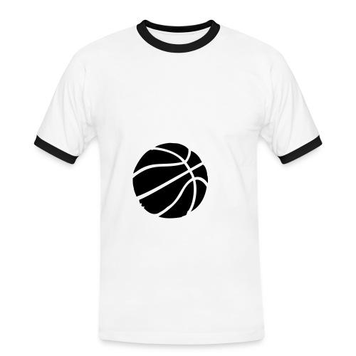 Koszulka Męska Slim Fit(wąska) - Koszulka męska z kontrastowymi wstawkami