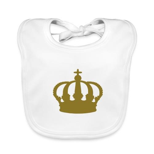 Crown, Babybib (gold) - Baby Organic Bib